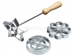 Εργαλείο Για Βάφλες-Λουκουμάδες-Ξεροτήγανα Με 3 Σχέδια kitchencraft