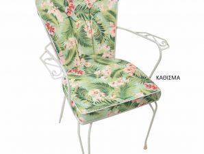 Μαξιλάρι Πλάτης Φερ Φορζέ Be Comfy Flowers Green