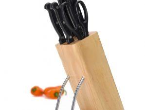 Μαχαίρια Kitchencraft Σετ 6Τμχ Με Ξύλινη Βάση
