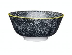 Μπολ Stonware Moroccan Black & White Floral 15cm Kitchencraft