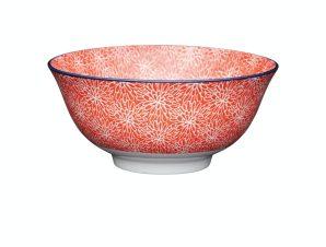 Μπολ Stonware Red Floral 15cm Kitchencraft