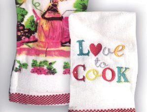 Πετσέτες Κουζίνας (Σετ 2τμχ) Rythmos Love To Cook