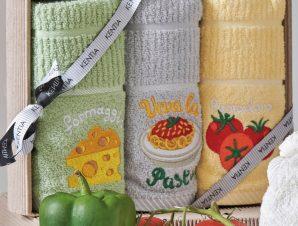 Πετσέτες Κουζίνας (Σετ 3τμχ) Kentia Kitchen Regalo 183