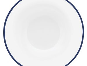 Πιάτο Βαθύ Πορσελάνης Σετ 6Τμχ Mediterraneo 22,5cm Ionia