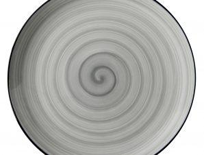 Πιάτο Ρηχό Πορσελάνης Porline Grey 21cm Porline Porselen