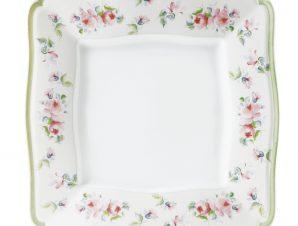 Πιάτο Ρηχό Τετράγωνο Σετ 6Τμχ Romantica 27cm Ionia