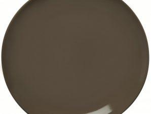 Πιάτο Ρηχό 21cm Κεραμικό Γκρι Happy Ware Alfa