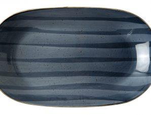 Πιατέλα Οβάλ Πορσελάνης Porline Blue 29cm Porline Porselen
