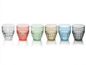 Ποτήρια Νερού – Αναψυκτικού Tiffany Σετ 6τμχ 350ml Χρωματιστά Guzzini