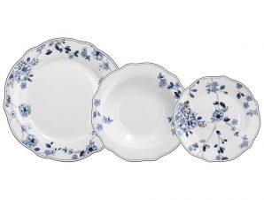Σερβίτσιο Φαγητού Πορσελάνης 18τμχ. Pigalle Blue Tognana