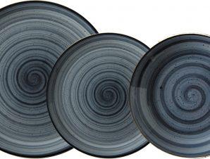 Σερβίτσιο Φαγητού Πορσελάνης Porline Blue Σετ 18Τμχ Porline Porselen