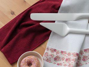Σετ Πετσέτες Κουζίνας 2 Τεμαχίων Palamaiki Kitchen Collection Scarlet 40×60
