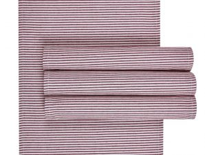 Σετ Σουπλά 4 Τεμαχίων Kentia Miles 05 Bordeaux 32×45