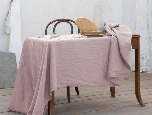 Σουπλά (Σετ 2τμχ) Nima Dining Linho Dusty Pink