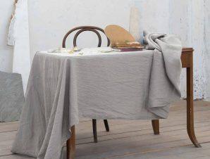 Σουπλά (Σετ 2τμχ) Nima Dining Linho Light Grey