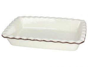 Ταψί Πυρίμαχο Ορθογώνιο Κεραμικό Country Cook Cream Tognana 33cm