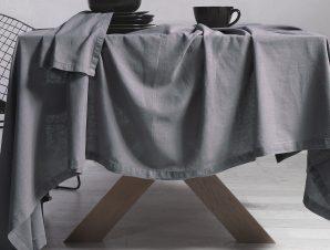 Τραπεζομάντηλο (150×250) Nef-Nef Cotton-Linen Grey