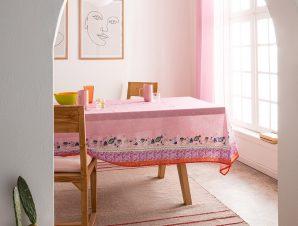 Τραπεζομάντηλο Gofis Home Eris 135×135 Ροζ 540/17