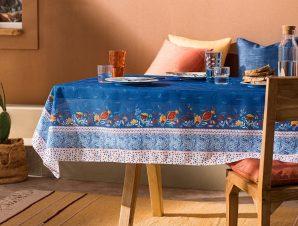 Τραπεζομάντηλο Gofis Home Eris 135×135 Blue Jean 540/09