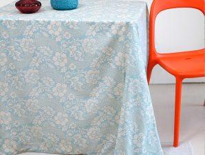 Τραπεζομάντηλο Melinen Rosalia Blue 140×140