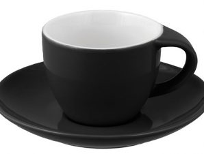 Φλιτζάνι & Πιάτο Capuccino Black Happy Ware