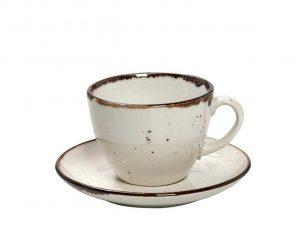 Φλυτζάνι Καφέ 220ml + Πιατάκι Espiel Terra Cream TLK111K6