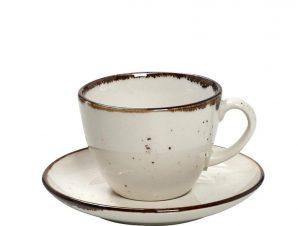 Φλυτζάνι Καφέ 350ml + Πιατάκι Espiel Terra Cream TLK110K6