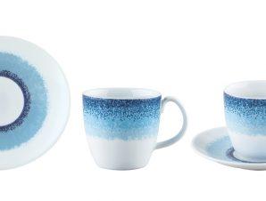 Φλυτζάνι & Πιάτο Τσαγιού Apeiron Blue Σετ 6τμχ Ionia