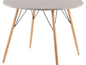 Τραπέζι Ροτόντα Rock Cement Natural D100x75cm 02-0277