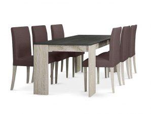 Τραπέζι Intro Cement-Sonoma 170x90x76cm 02-0220
