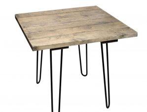 Τραπέζι AST543 Brown-Black 85x85x75cm Espiel