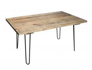 Τραπέζι AST547 Brown-Black 150x85x75cm Espiel