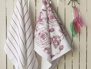 Σετ Πετσέτες Κουζίνας (2 Τμχ) 40X60 Melinen Rose Εμπριμε