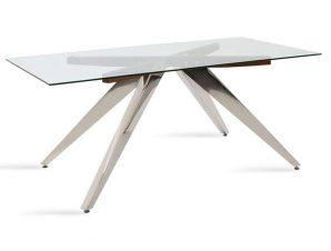 Τραπέζι Liana 093-000007 180x100x76cm Walnut – Inox
