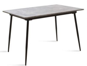 Τραπέζι Shazam Επεκτεινόμενο 096-000002 120-160x80x76cm Grey Cement