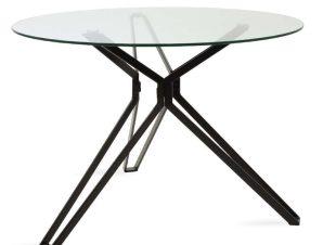 Τραπέζι Aryan 101-000020 Φ110x75cm Black-Clear