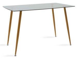 Τραπέζι Chloe 101-000018 120x70x75cm Natural-Grey