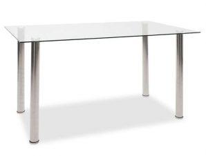 Τραπέζι Hazel 101-000014 140x80x75cm Inox