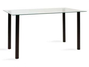Τραπέζι Hazel 101-000015 140x80x75cm Black-Clear