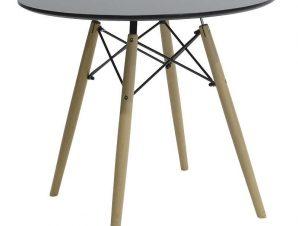 Τραπέζι Julita 029-000093 Φ80x73cm Black Oak