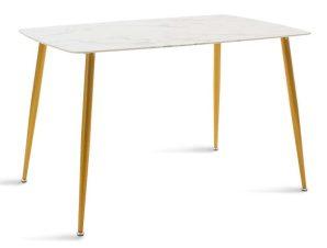 Τραπέζι Paris 029-000086 120x80x75cm Gold