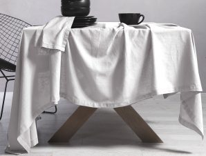 Τραπεζομάντηλο 150×300 Nef Nef Cotton-Linen White