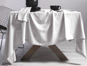 Τραπεζομάντηλο 150×250 Nef Nef Cotton-Linen White