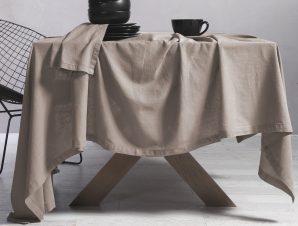 Τραπεζομάντηλο 150×300 Nef Nef Cotton-Linen Beige