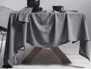 Τραπεζομάντηλο 150×300 Nef Nef Cotton-Linen Grey