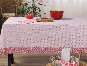 Αλέκιαστο Τραπεζομάντηλο 140X180 Nef Nef Tradition Pink