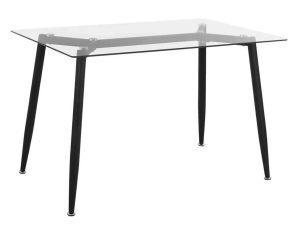 Τραπέζι HM8498.01 120X70X75,5Υcm Black-Clear