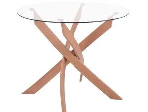 Τραπέζι HM8499.02 Φ90X74Y cm Natural-Clear