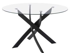 Τραπέζι HM8733.01 Φ120X75Y cm Black-Clear
