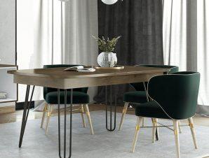 Τραπέζι Ανοιγόμενο Νο. 114 Dias 160×90 Wallnut